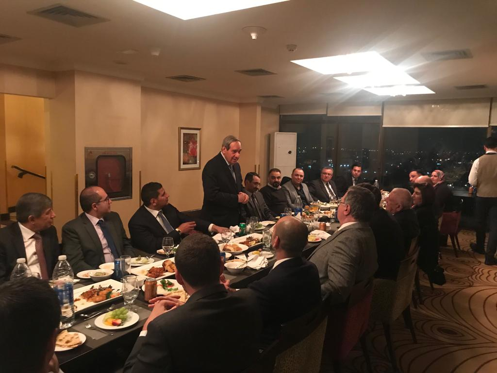 IBBC hold dinner for members and guests at the Babylon Hotel, Baghdad on 15 January WhatsApp-Image-2019-01-15-at-20.26.05